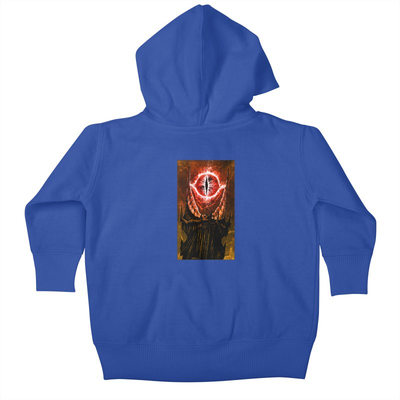 The Great Eye Kids Baby Zip-Up Hoody by Ambrose H.H.'s Artist Shop