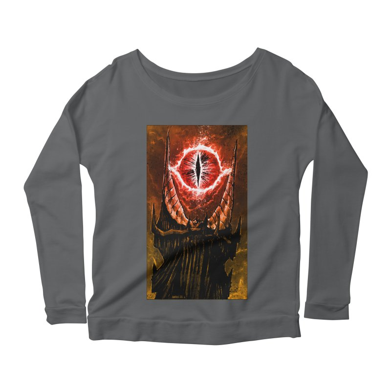 The Great Eye Women's Scoop Neck Longsleeve T-Shirt by Ambrose H.H.'s Artist Shop