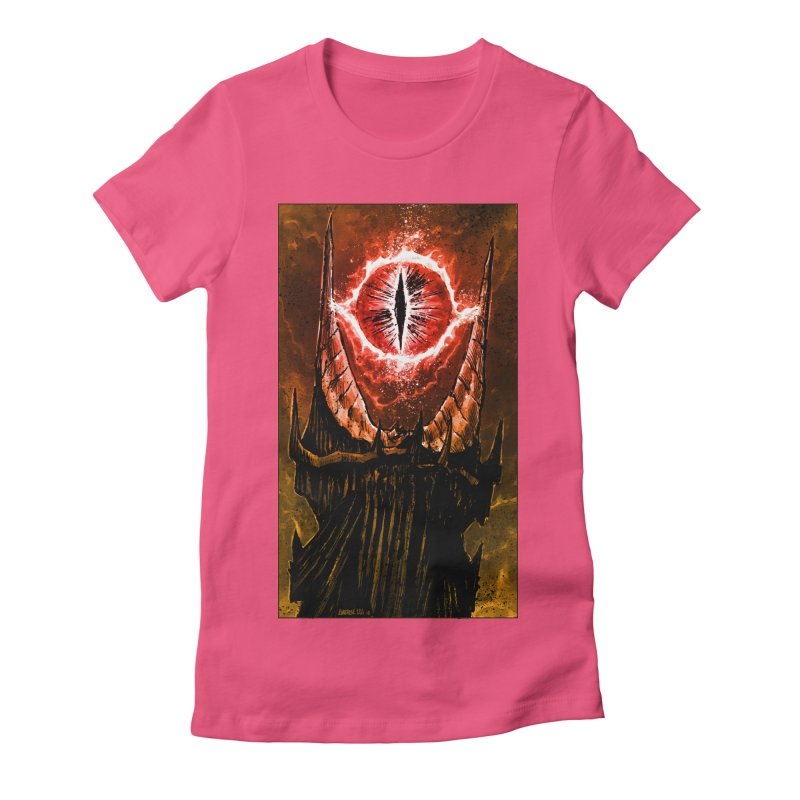 The Great Eye Women's Fitted T-Shirt by Ambrose H.H.'s Artist Shop