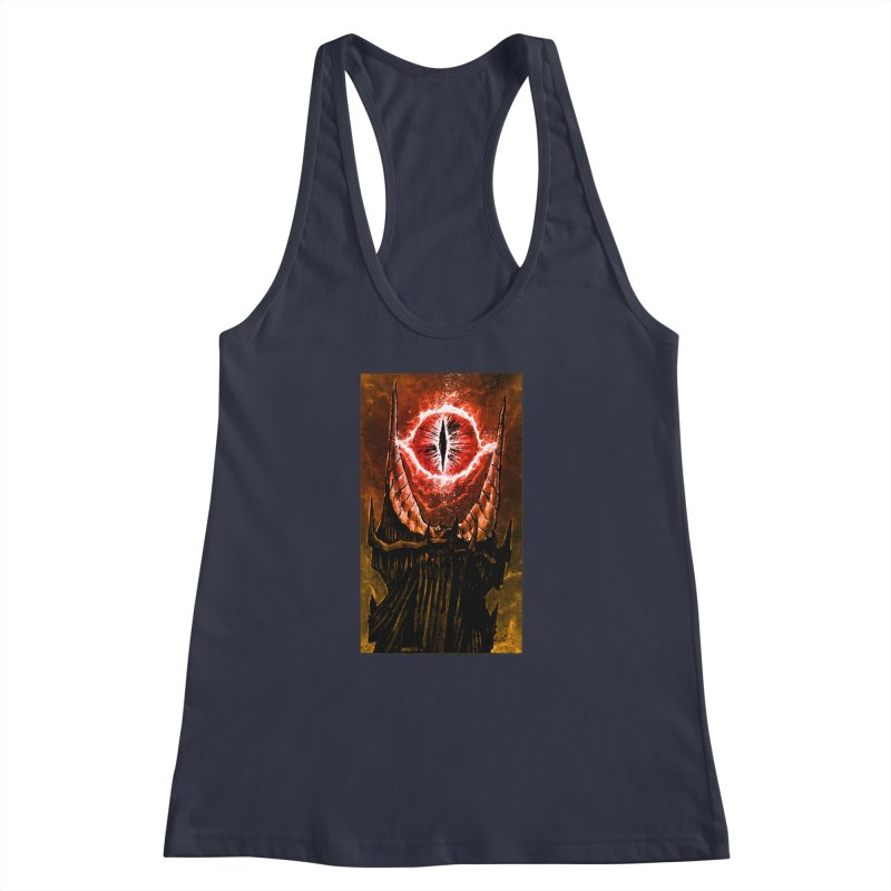 The Great Eye Women's Racerback Tank by Ambrose H.H.'s Artist Shop