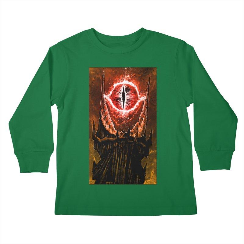 The Great Eye Kids Longsleeve T-Shirt by Ambrose H.H.'s Artist Shop