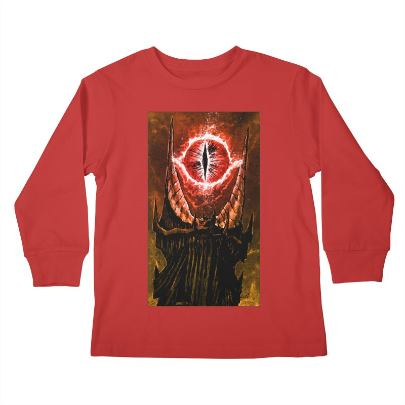 The Great Eye Kids Longsleeve T-Shirt by Ambrose H.H.'s Artist Shop