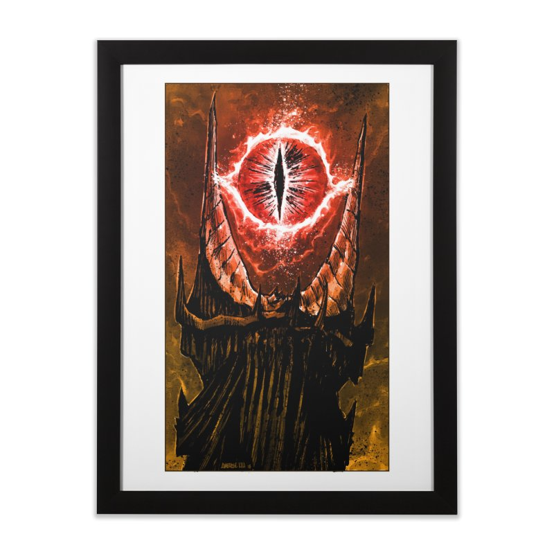 The Great Eye Home Framed Fine Art Print by Ambrose H.H.'s Artist Shop