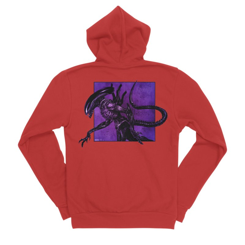 Xenomorph Men's Zip-Up Hoody by Ambrose H.H.'s Artist Shop