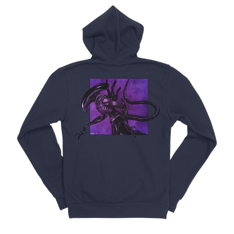 Xenomorph Men's Sponge Fleece Zip-Up Hoody by Ambrose H.H.'s Artist Shop