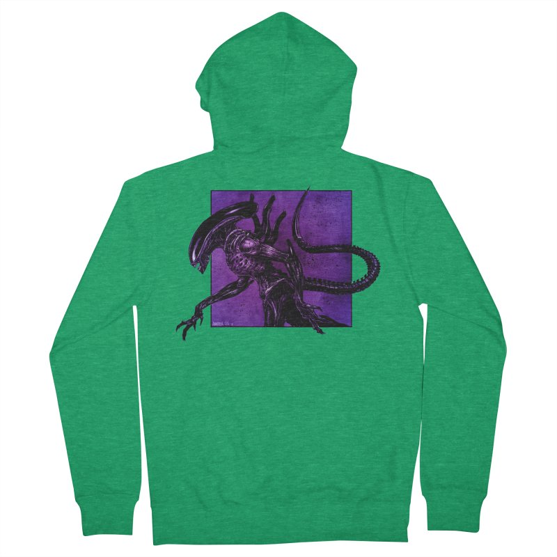 Xenomorph Women's Zip-Up Hoody by Ambrose H.H.'s Artist Shop