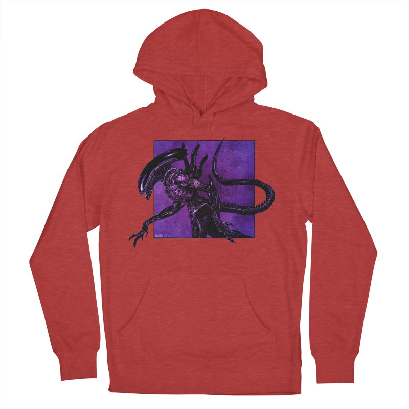 Xenomorph Men's French Terry Pullover Hoody by Ambrose H.H.'s Artist Shop