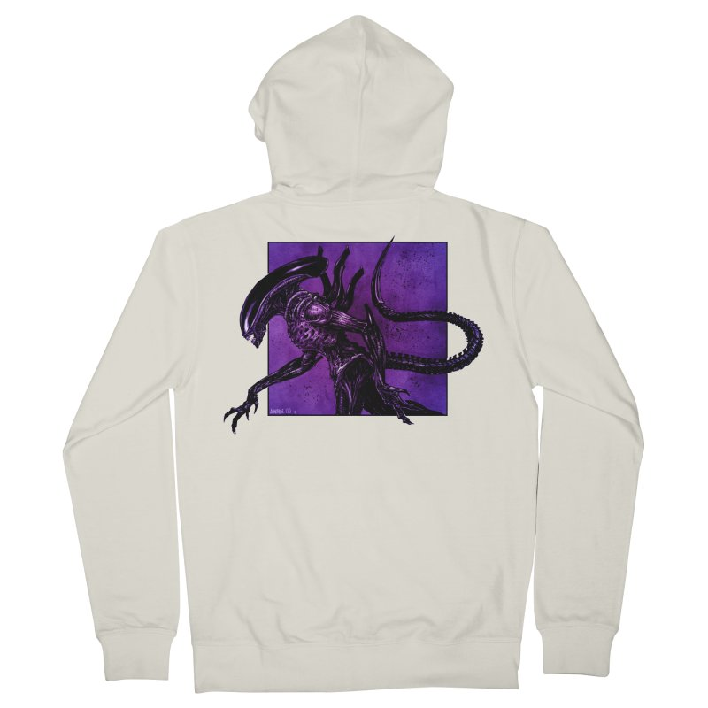 Xenomorph Women's French Terry Zip-Up Hoody by Ambrose H.H.'s Artist Shop