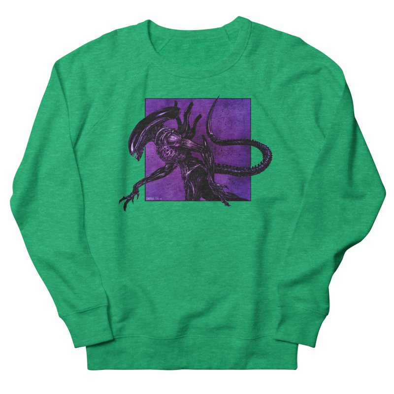 Xenomorph Men's French Terry Sweatshirt by Ambrose H.H.'s Artist Shop