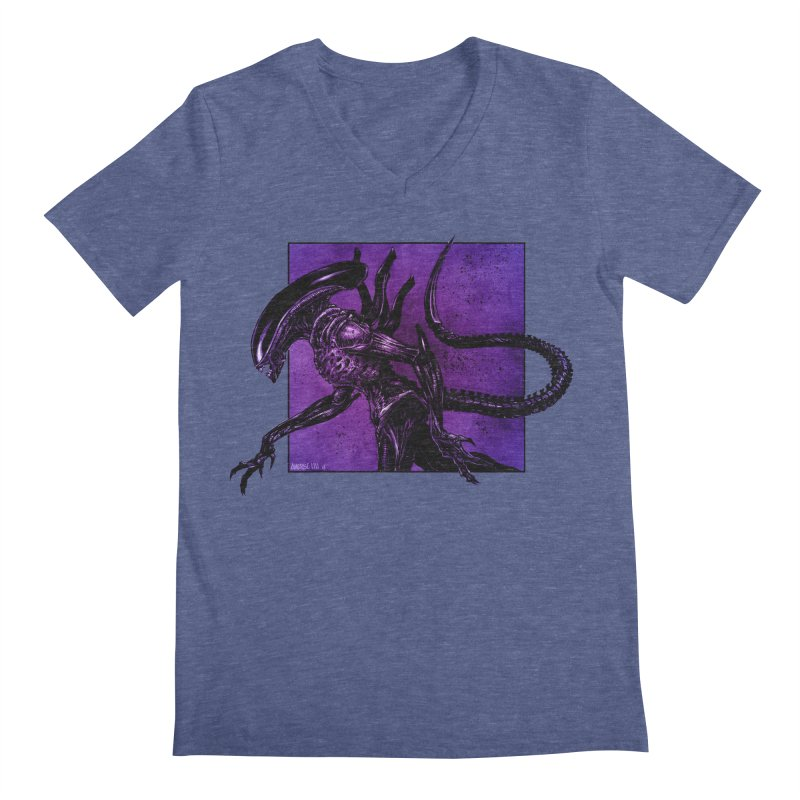 Xenomorph Men's V-Neck by Ambrose H.H.'s Artist Shop