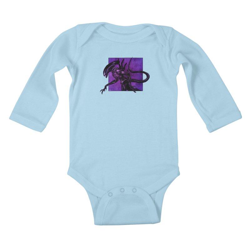 Xenomorph Kids Baby Longsleeve Bodysuit by Ambrose H.H.'s Artist Shop