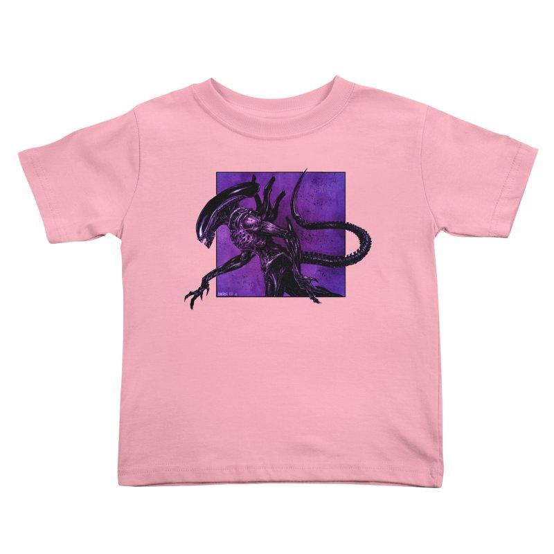 Xenomorph Kids Toddler T-Shirt by Ambrose H.H.'s Artist Shop