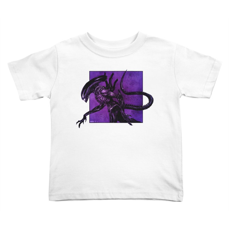 Xenomorph Kids Toddler T-Shirt by Ambrose H.H.'s Artist Shop