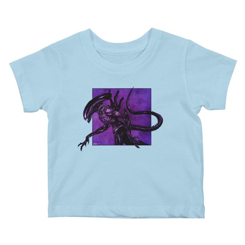 Xenomorph Kids Baby T-Shirt by Ambrose H.H.'s Artist Shop