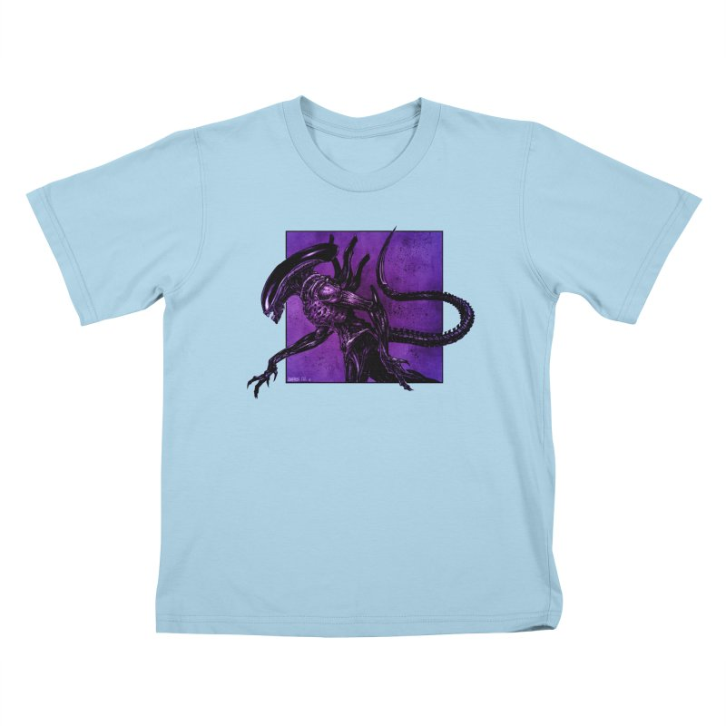 Xenomorph Kids T-Shirt by Ambrose H.H.'s Artist Shop