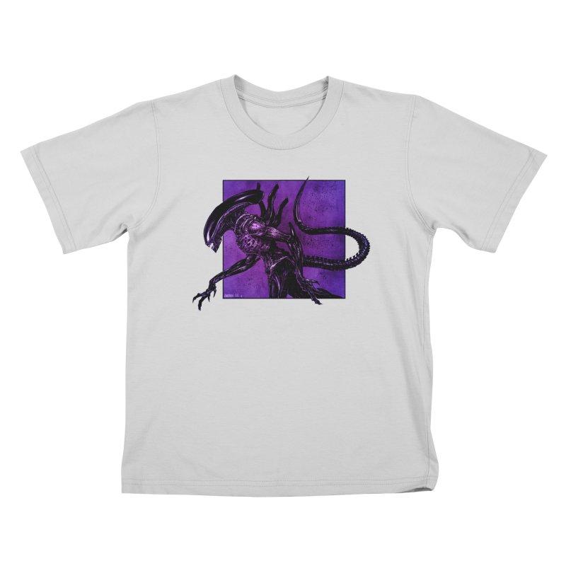 Xenomorph Kids T-Shirt by Ambrose H.H.'s Artist Shop