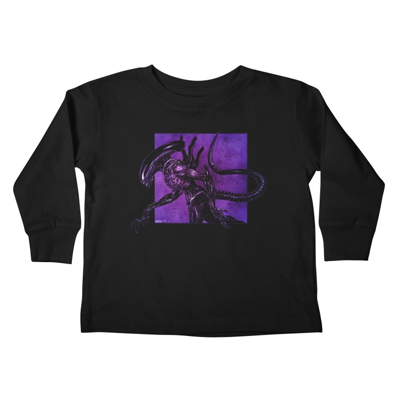 Xenomorph Kids Toddler Longsleeve T-Shirt by Ambrose H.H.'s Artist Shop