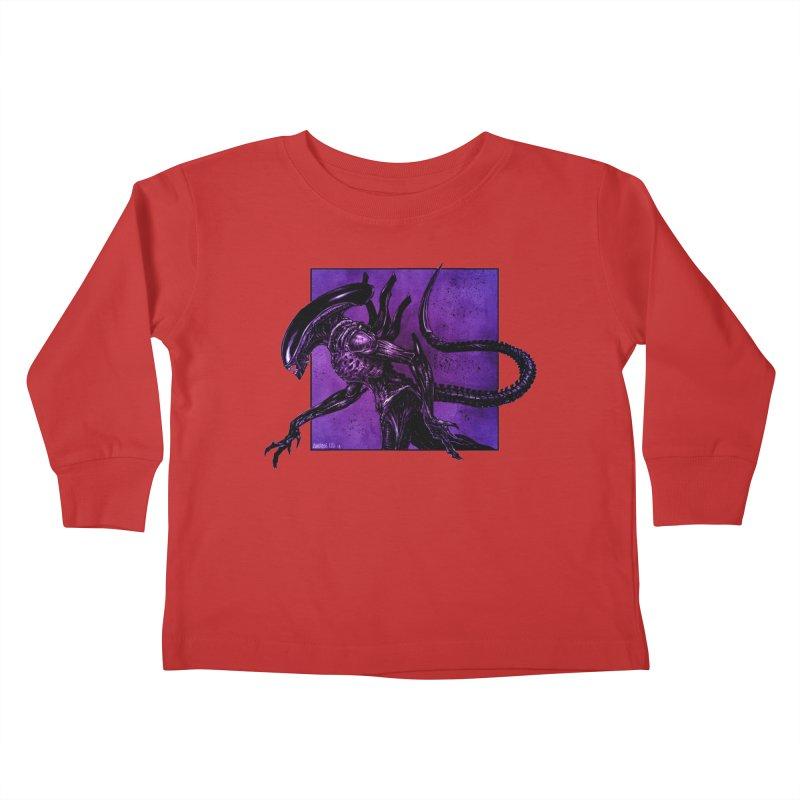 Xenomorph Kids Toddler Longsleeve T-Shirt by Ambrose H.H.'s Artist Shop