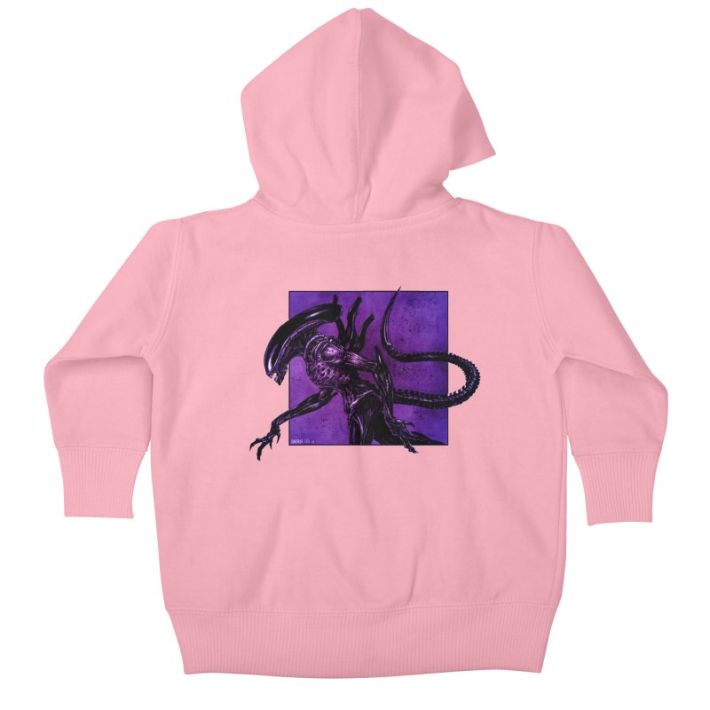 Xenomorph Kids Baby Zip-Up Hoody by Ambrose H.H.'s Artist Shop