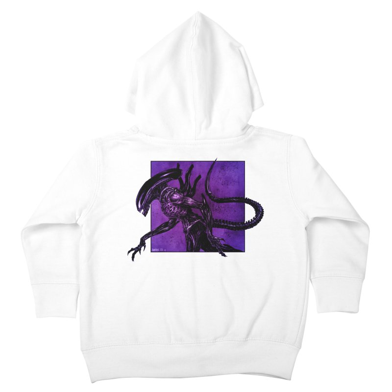 Xenomorph Kids Toddler Zip-Up Hoody by Ambrose H.H.'s Artist Shop