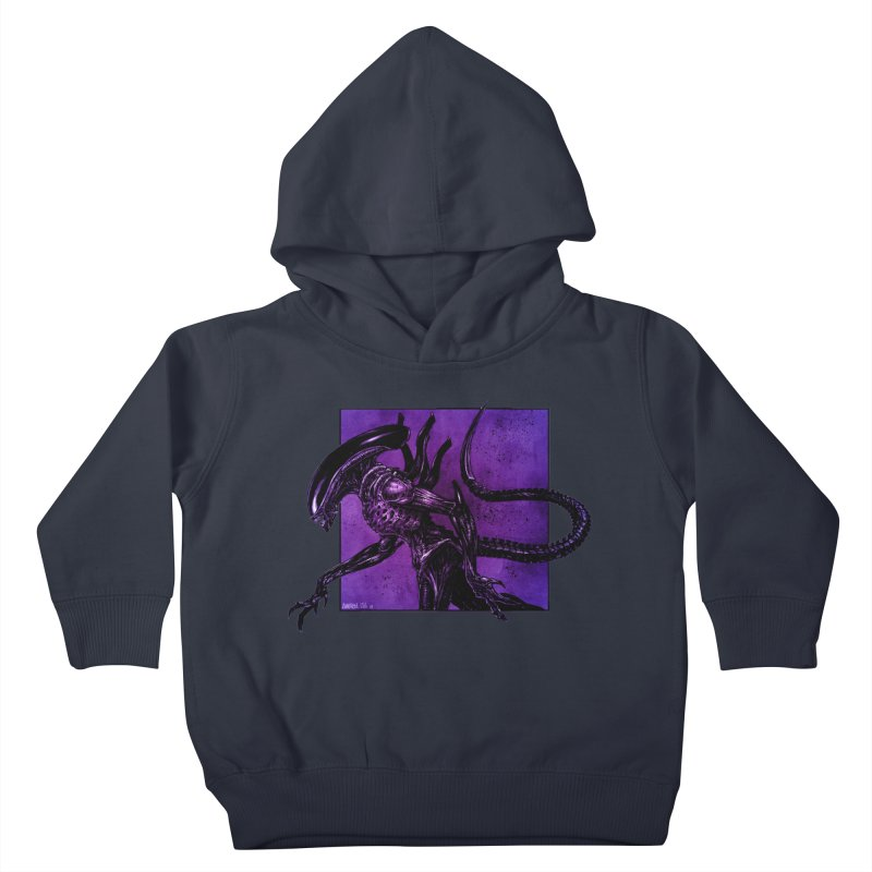 Xenomorph Kids Toddler Pullover Hoody by Ambrose H.H.'s Artist Shop