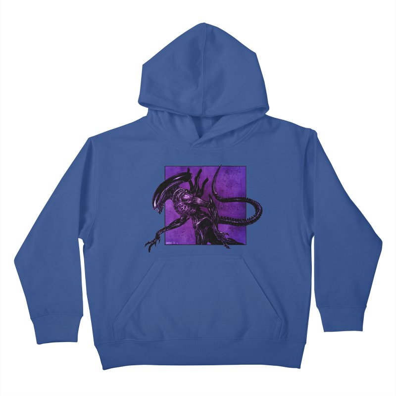 Xenomorph Kids Pullover Hoody by Ambrose H.H.'s Artist Shop