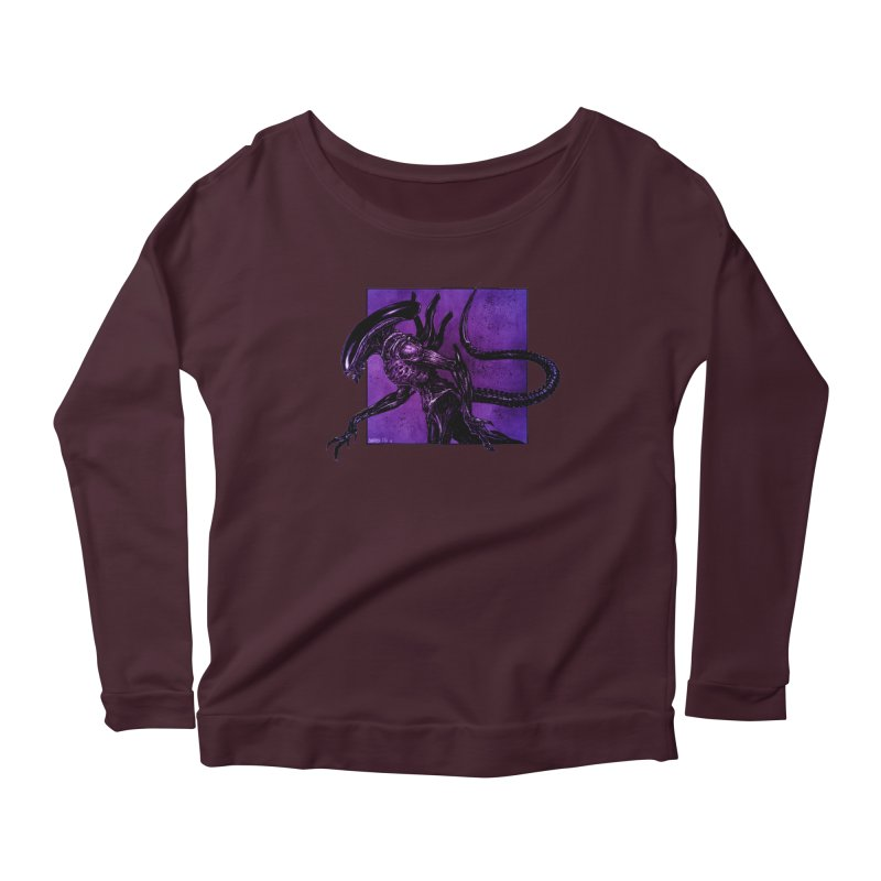Xenomorph Women's Scoop Neck Longsleeve T-Shirt by Ambrose H.H.'s Artist Shop