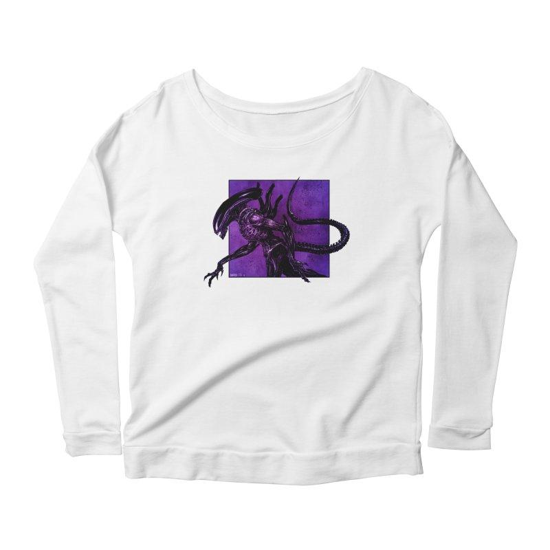 Xenomorph Women's Scoop Neck Longsleeve T-Shirt by Ambrose H.H.'s Artist Shop
