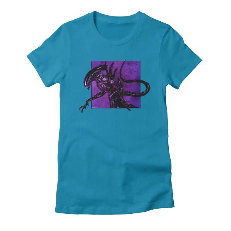 Xenomorph Women's Fitted T-Shirt by Ambrose H.H.'s Artist Shop