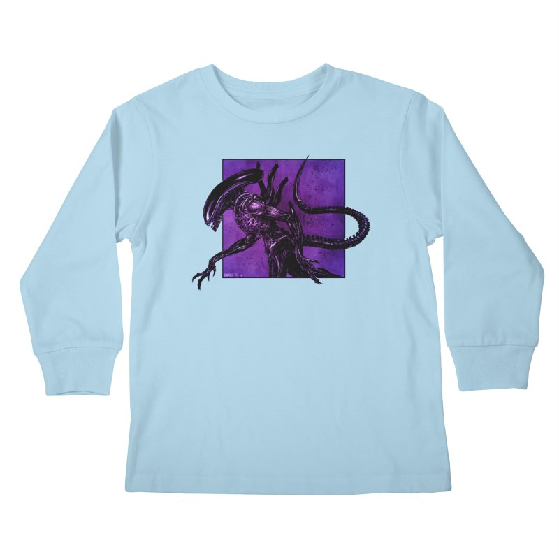 Xenomorph Kids Longsleeve T-Shirt by Ambrose H.H.'s Artist Shop