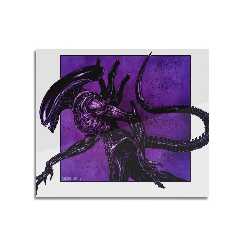 Xenomorph Home Mounted Aluminum Print by Ambrose H.H.'s Artist Shop