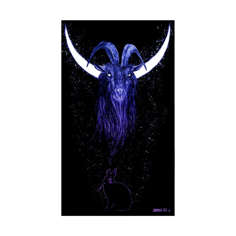 Black Phillip Men's V-Neck by Ambrose H.H.'s Artist Shop