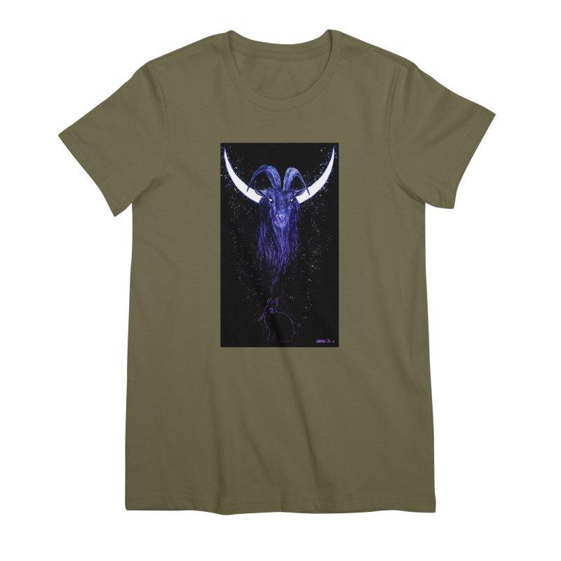 Black Phillip Women's Premium T-Shirt by Ambrose H.H.'s Artist Shop