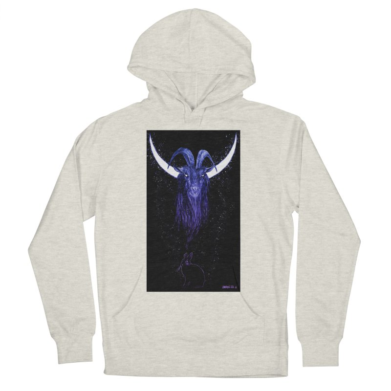 Black Phillip Men's French Terry Pullover Hoody by Ambrose H.H.'s Artist Shop