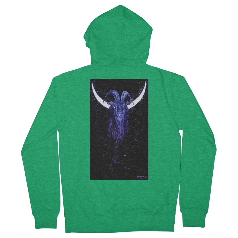 Black Phillip Women's Zip-Up Hoody by Ambrose H.H.'s Artist Shop