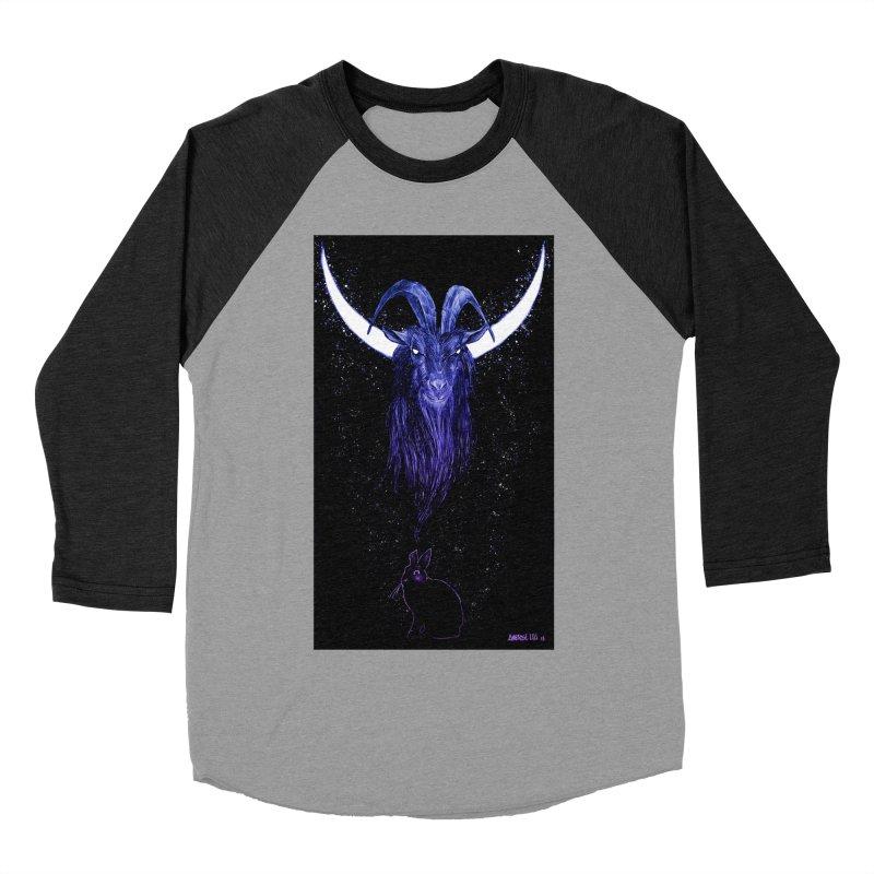 Black Phillip Women's Baseball Triblend Longsleeve T-Shirt by Ambrose H.H.'s Artist Shop
