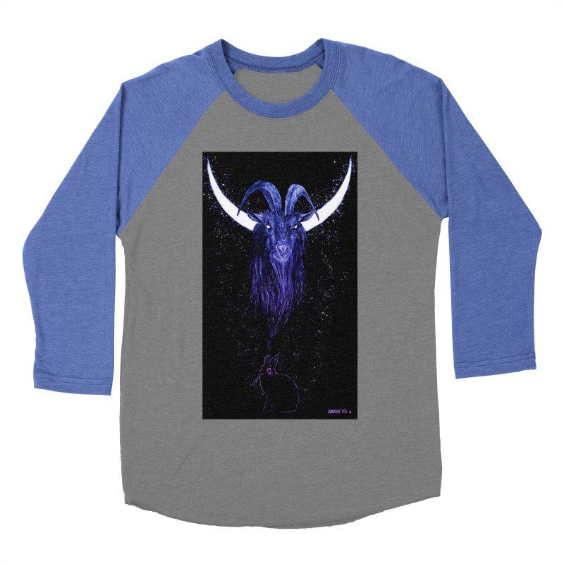 Black Phillip Men's Baseball Triblend Longsleeve T-Shirt by Ambrose H.H.'s Artist Shop