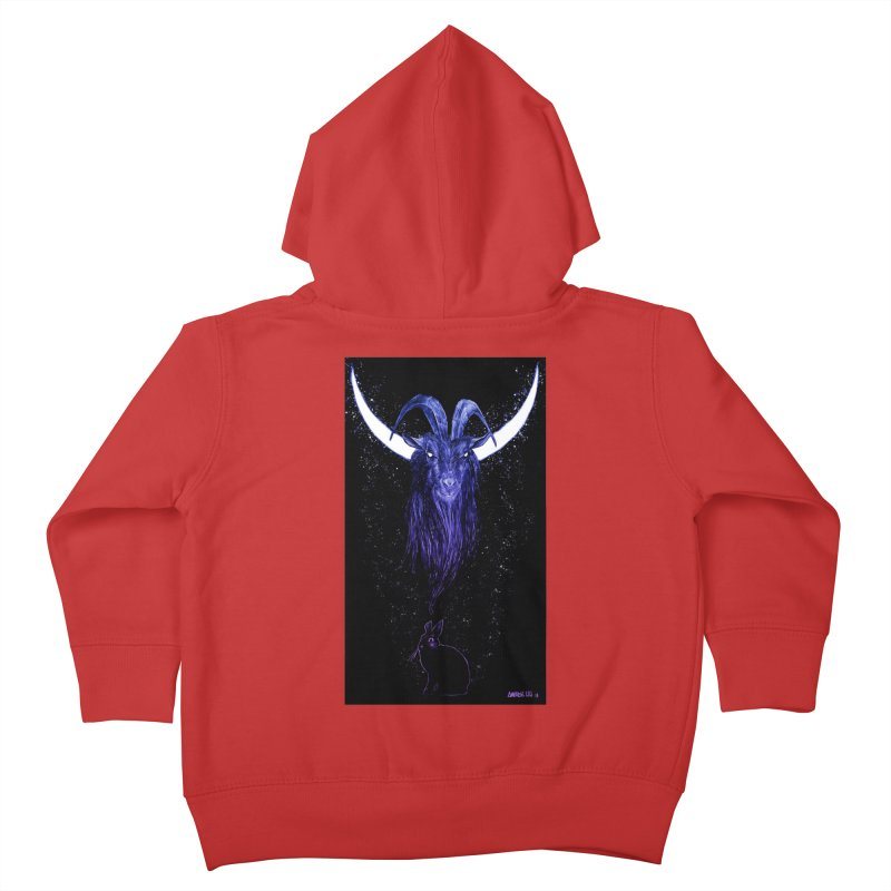 Black Phillip Kids Toddler Zip-Up Hoody by Ambrose H.H.'s Artist Shop