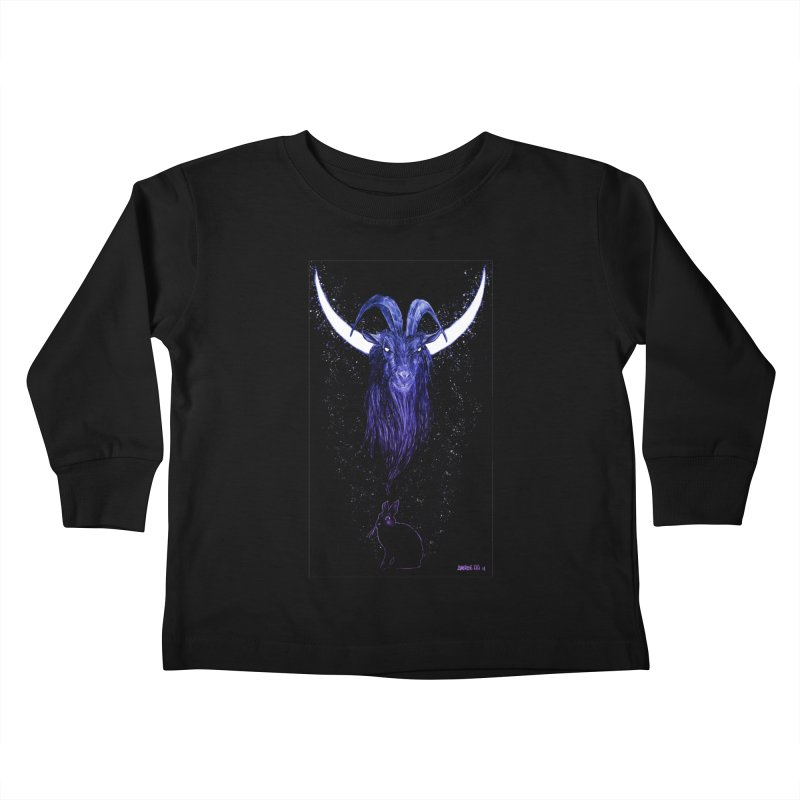Black Phillip Kids Toddler Longsleeve T-Shirt by Ambrose H.H.'s Artist Shop