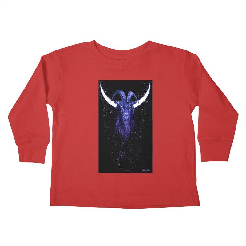 Black Phillip Kids Toddler Longsleeve T-Shirt by Ambrose H.H.'s Artist Shop