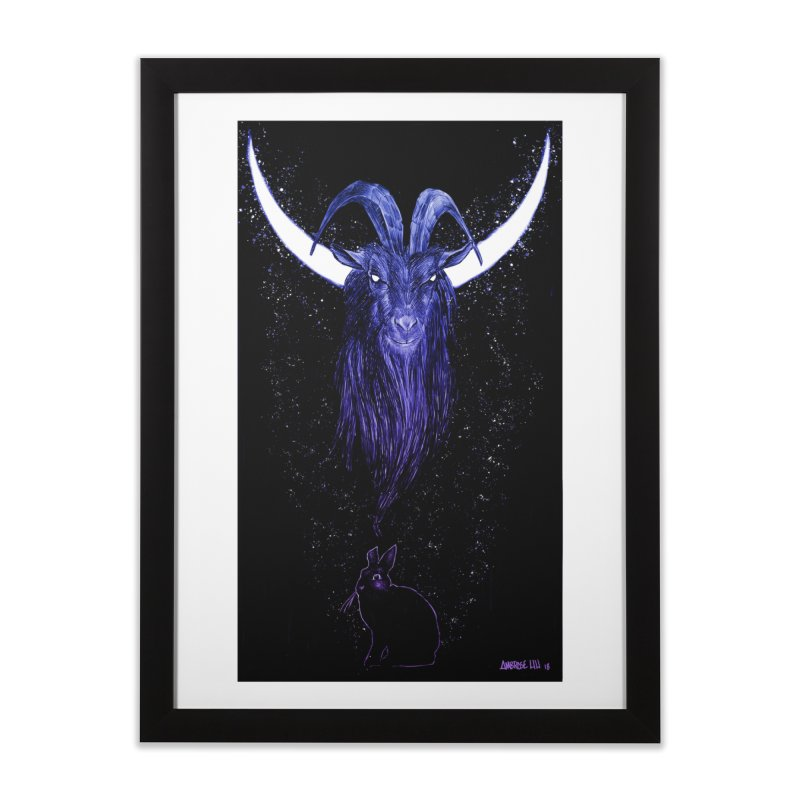 Black Phillip Home Framed Fine Art Print by Ambrose H.H.'s Artist Shop