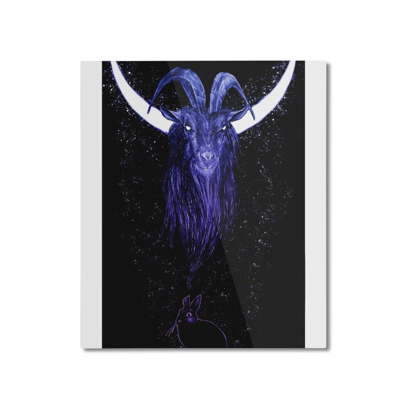 Black Phillip Home Mounted Aluminum Print by Ambrose H.H.'s Artist Shop