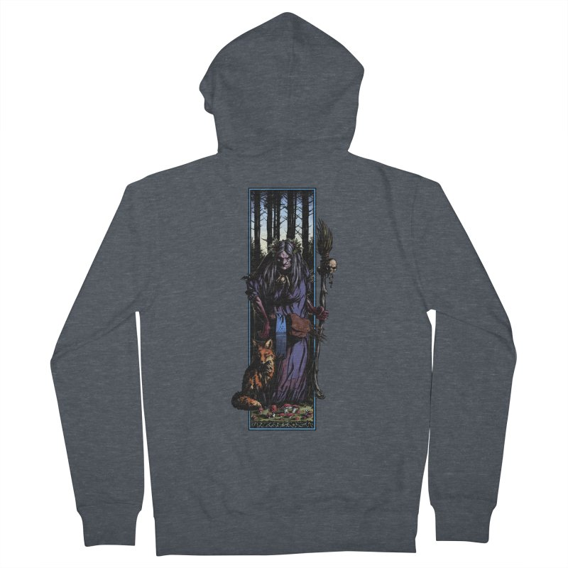 The Watcher Women's French Terry Zip-Up Hoody by Ambrose H.H.'s Artist Shop