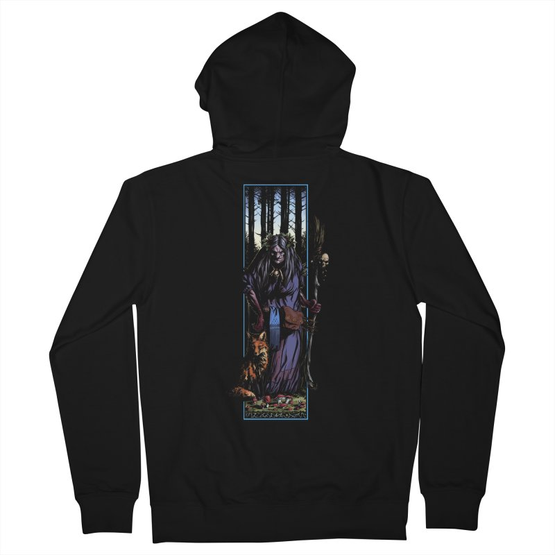 The Watcher Men's French Terry Zip-Up Hoody by Ambrose H.H.'s Artist Shop