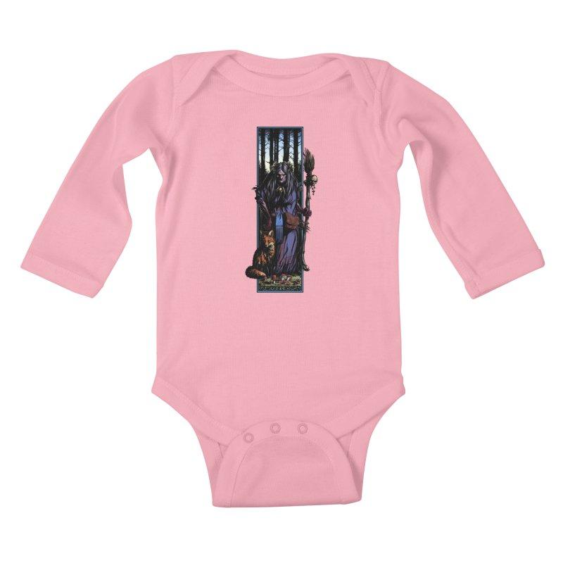 The Watcher Kids Baby Longsleeve Bodysuit by Ambrose H.H.'s Artist Shop