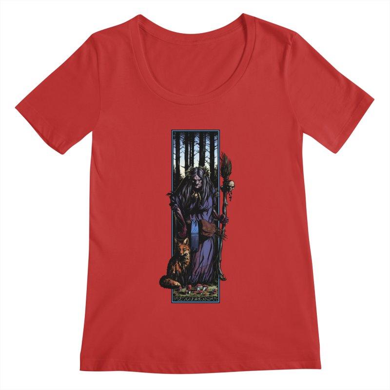 The Watcher Women's Regular Scoop Neck by Ambrose H.H.'s Artist Shop