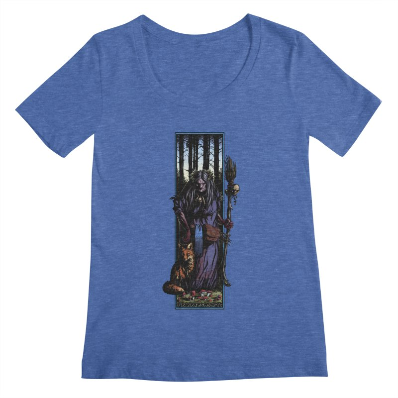 The Watcher Women's Regular Scoop Neck by Ambrose H.H.'s Artist Shop