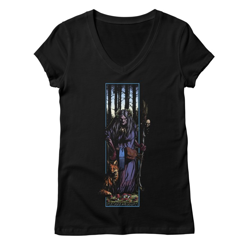 The Watcher Women's V-Neck by Ambrose H.H.'s Artist Shop
