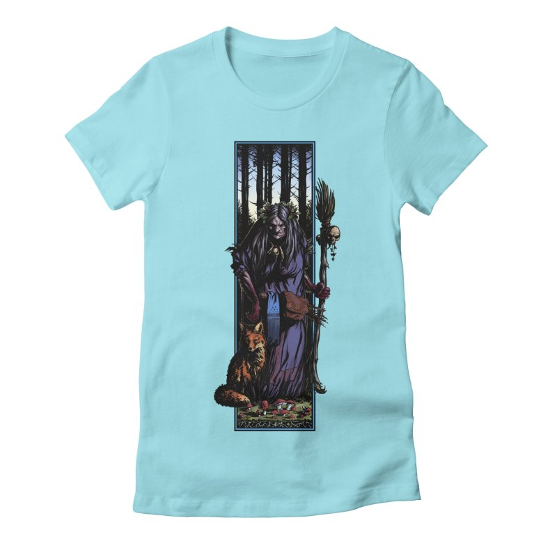 The Watcher Women's Fitted T-Shirt by Ambrose H.H.'s Artist Shop