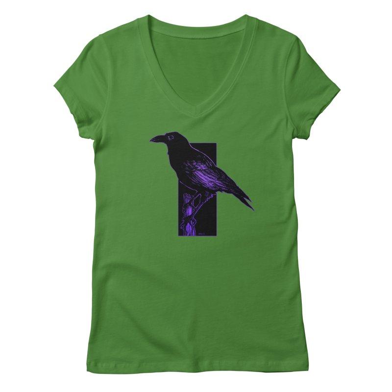 Crow Women's Regular V-Neck by Ambrose H.H.'s Artist Shop